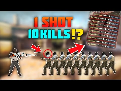 CS:GO - How Many People Can You Kill With 1 Bullet!?
