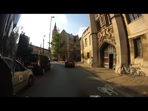 I went to Cambridge. On my motorbike.