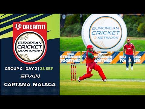 🔴 Dream11 European Cricket Championship | Group C Day 2 Cartama Oval Spain | T10 Live Cricket