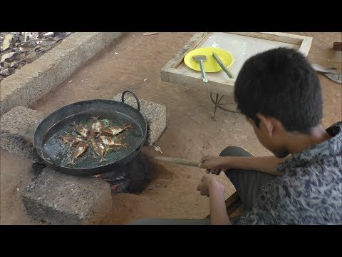 Village food factory /Ayila MEEN Roast Cooking by my Family in my village / Ayila MEEN FRY