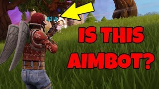 Aimbot Headshots?? (Ridiculous Fortnite Headshot Win)