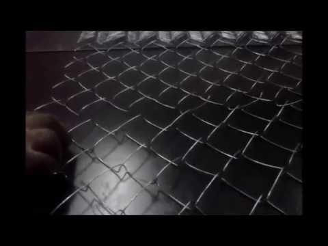 Сетка рабица гармошка. Сплетение ячеек