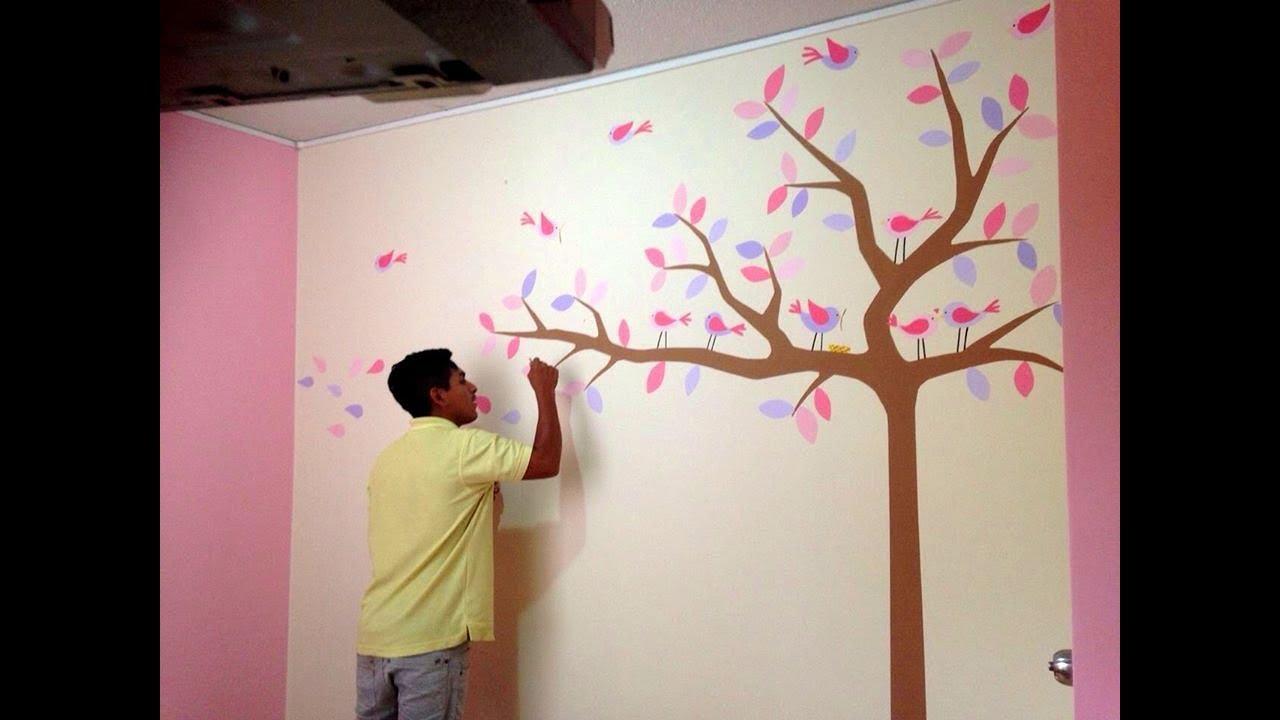 Como decorar cuarto para bebe recien nacido pintando - Dibujos infantiles para decorar paredes ...