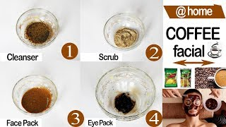 *COFFEE FACIAL* How To Do Coffee Facial at Home | Brighten Skin with Coffee Powder