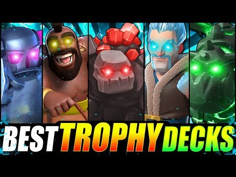 *NEW* TOP 5 BEST TROPHY PUSHING DECKS IN CLASH ROYALE!! FASTEST LADDER DECKS! Mp3