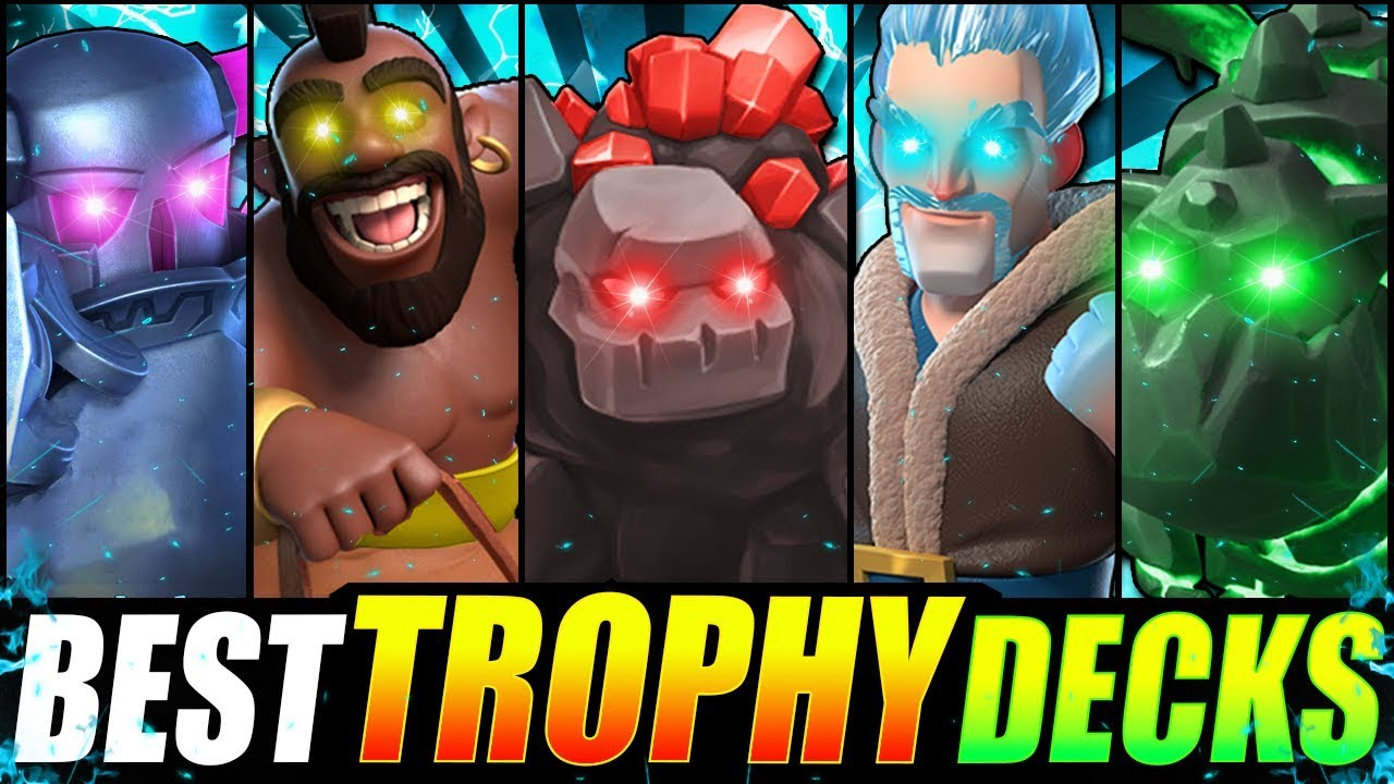 New Top 5 Best Trophy Pushing Decks In Clash Royale Fastest