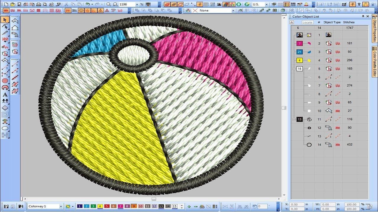 How To Digitize Baseball Embroidery Design Wilcom E2 And E3 Youtube