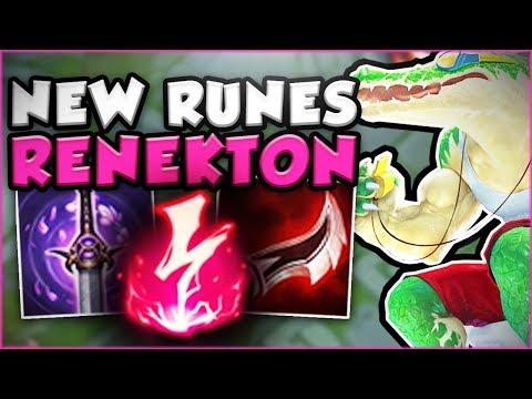 JUST HOW OP ARE THE NEW RUNES ON RENEKTON?! NEW RENEKTON TOP SEASON 8 GAMEPLAY! - League of Legends