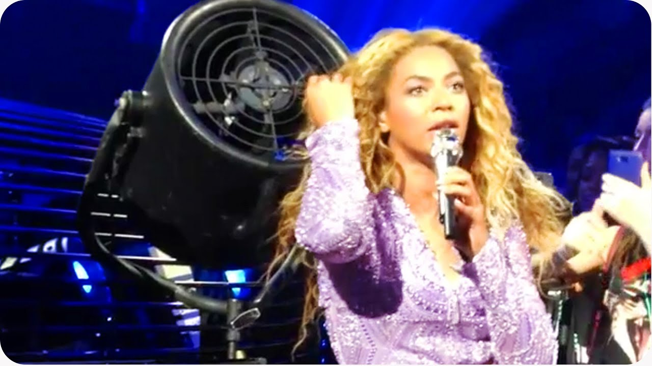 Beyonce Vs. The Machine | Mrs. Carter's Weave Caught in Fan