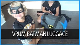 bg review batman carry along ride on kids luggage by vrum