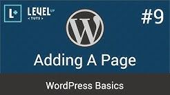 WordPress Basics #9 - Adding A Page