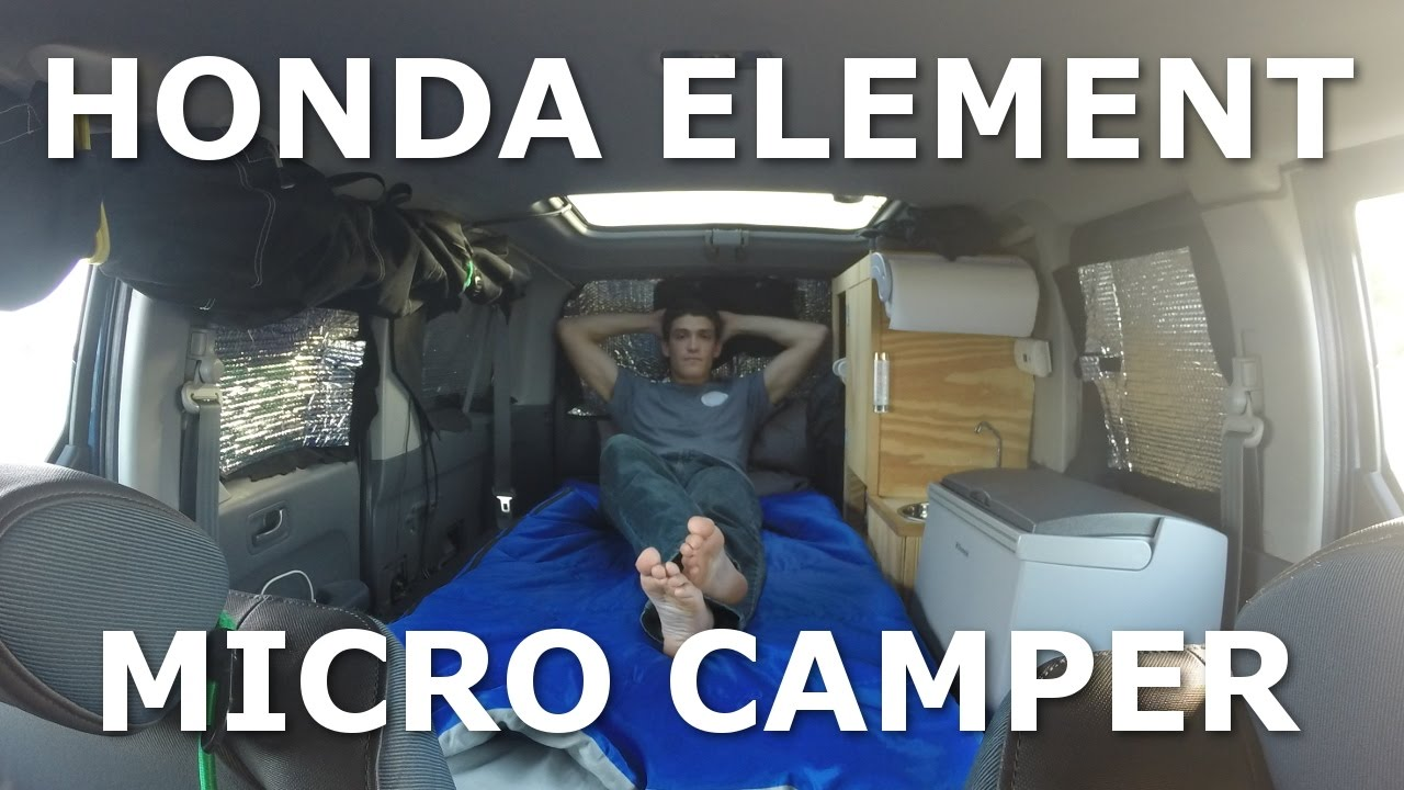 Tour Honda Element Custom Camper Conversion Youtube