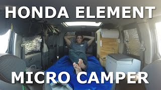 Tour Honda Element Custom Camper Conversion