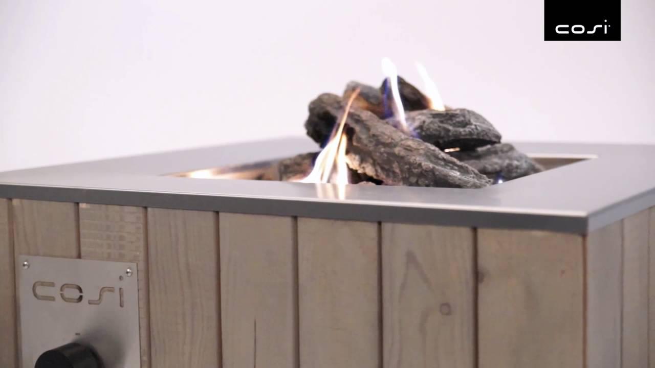 Gartenlounge metall  Cosi Cube vlammenspel - YouTube