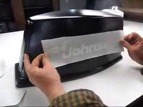 How To Apply Vinyl Decal Sticker To A Boat Motor YouTube - Decals for boat motors