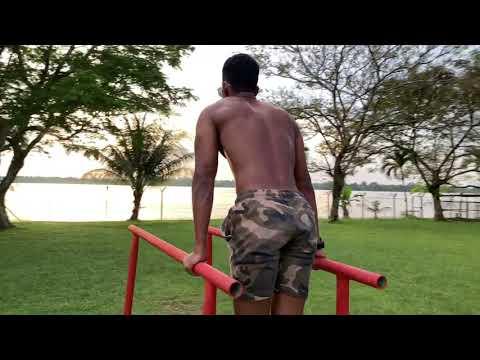 Marines from SARAWAK MARITIME ACADEMY workout.