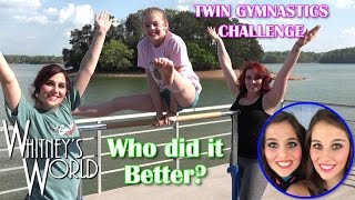 Twin Gymnastics Challenge | Who did it Better | Whitney Bjerken