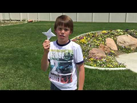 Ninja Stars - DIY - How to make paper ninja stars