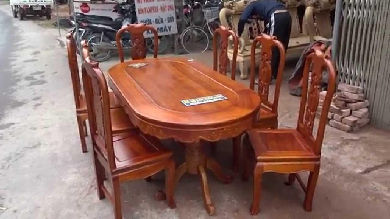 Bộ bàn ghế ăn gỗ gụ, mẫu Cát Khánh Hữu Dư,45 tr,  mã số An18B8-27, đồ gỗ đức hiền