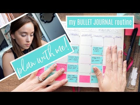 HOW I PLAN MY MONTH ⭐ Bullet Journal Method!