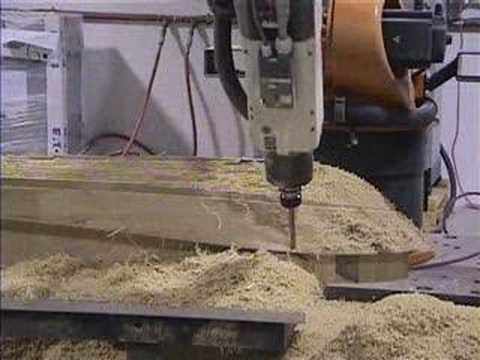 Milling scale boat hull model - YouTube