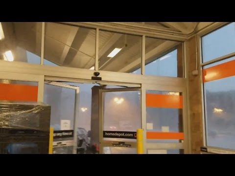 Shoppers Take Shelter Inside Home Depot as Tornado Touches Down