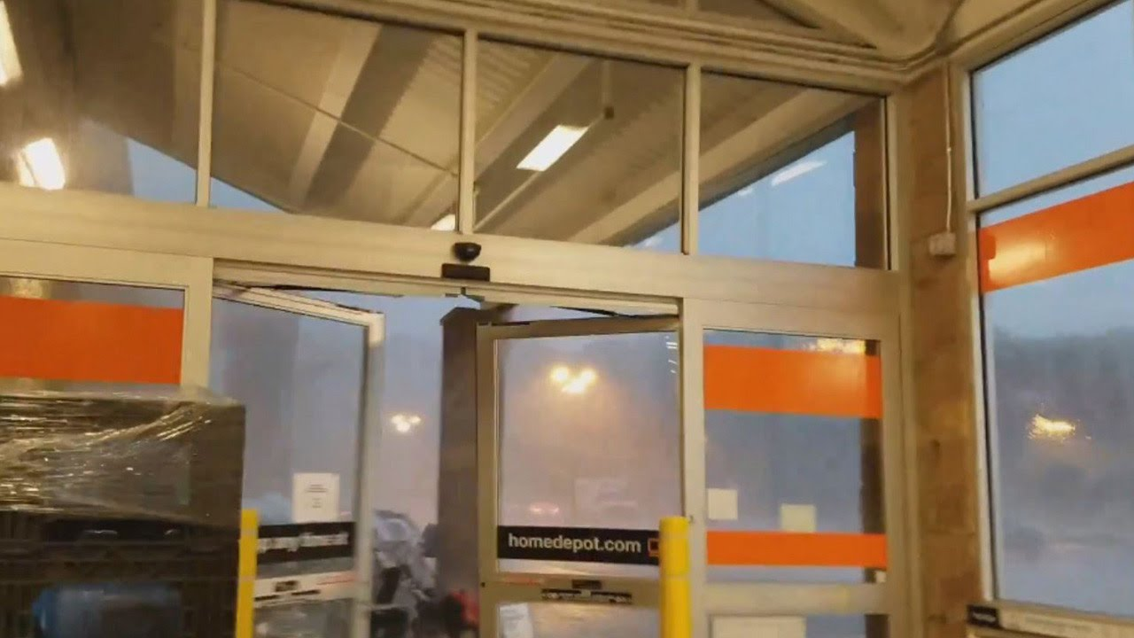 Shoppers Take Shelter Inside Home Depot as Tornado Touches ...
