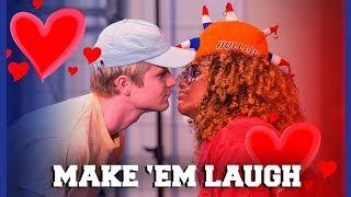 KELVIN EN QUINTY ZIJN INTIEM BIJ MAKE 'EM LAUGH?! | Kelvin, Quinty, Kaj, Marije | Challenges Cup #7