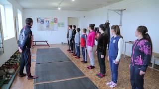 Открытый урок физкультуры в Герейхановской СОШ№2.HD