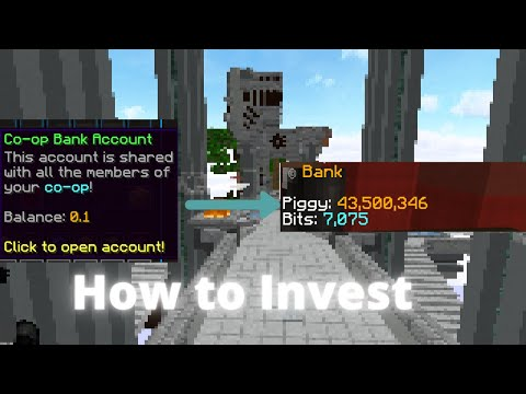 How to invest and make millions quick! Create stonks-Hypixel, Skyblock.