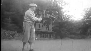 Plus-Fours on a Golf Course in 1934.  Archive film 93826