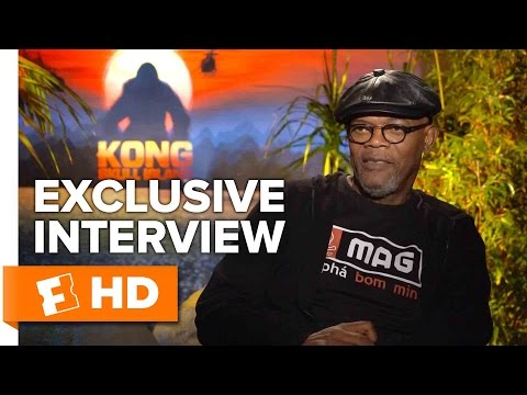 Samuel L. Jackson and Brie Larson Exclusive 'Kong: Skull Island' Interview (2017)