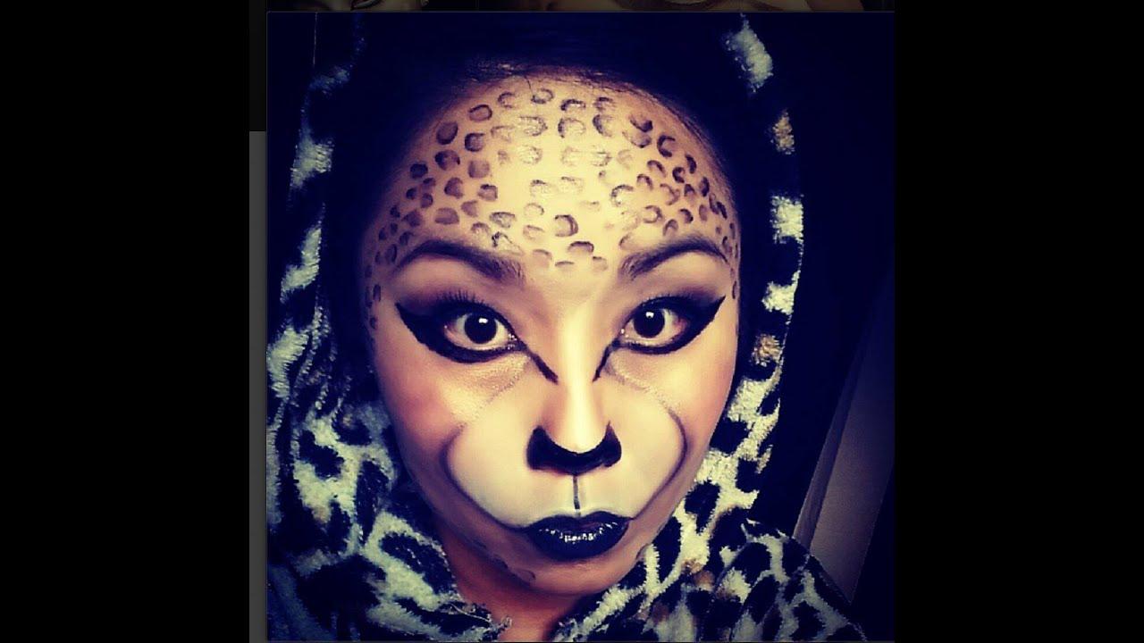 INSTAGRAM FILTER-Leopard Cheetah Makeup Transformation/Tutorial ...
