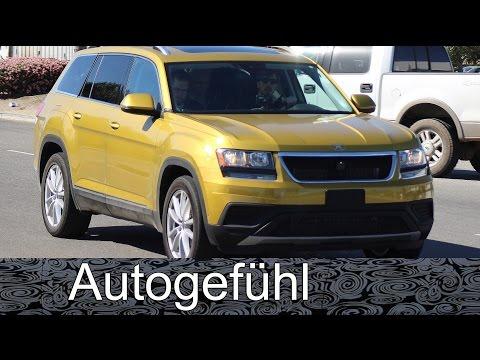 VW CrossBlue disguised big Volkswagen SUV spy shots camo car Erlkönig all-new neu