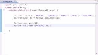 Intermediate Java Tutorial - 9 - Collections Method sort