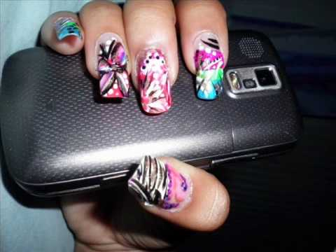 random nail designs  long natural nails  youtube