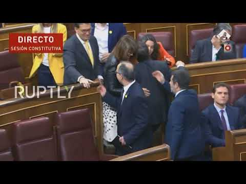 Spain: Jailed Catalan separatist leaders attend opening session of Parliament