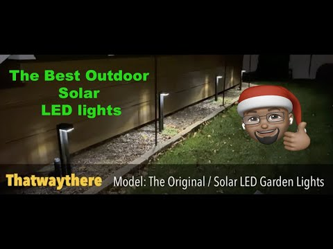 Unboxing & Review of the Thatwaythere Solar Lights Outdoor Waterproof Garden LED Light Set.