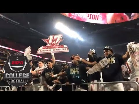 Alabama celebrates winning the College Football Playoff national championship | ESPN