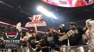 Alabama celebrates winning the College Football Playoff national championship | ESPN