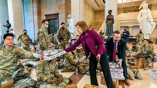 شاهد: قوات الحرس الوطني الأمريكي ينامون في أرجاء الكونغرس…