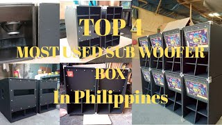 TOP 4 SUB-WOOFER BOX USE IN PHILIPPINES 2020 + Battle Mix Music