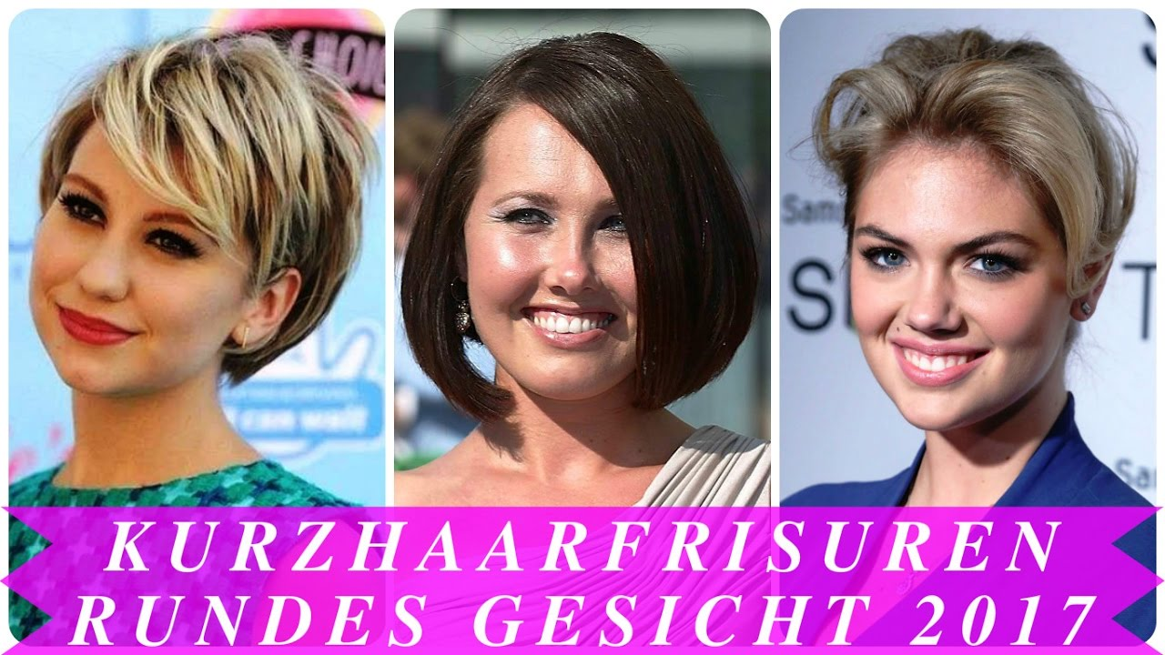 kurzhaarfrisuren rundes gesicht 2017 youtube. Black Bedroom Furniture Sets. Home Design Ideas