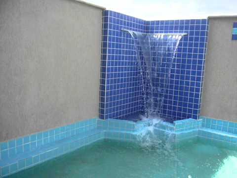 Cascata piscina 01 youtube - Fotos de piscinas ...