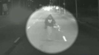 Video captures suspected cop killer running from scene