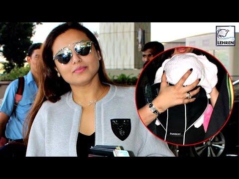 Rani Mukerji With Adira Spotted At Airport | LehrenTV