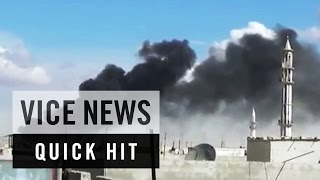 Airstrikes Cause Chaos and Destruction in Syria's Homs: VICE News Quick Hit