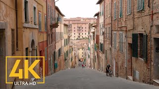 Beautiful Cities of Tuscany, Italy - 4K City Life Video with Street Sounds