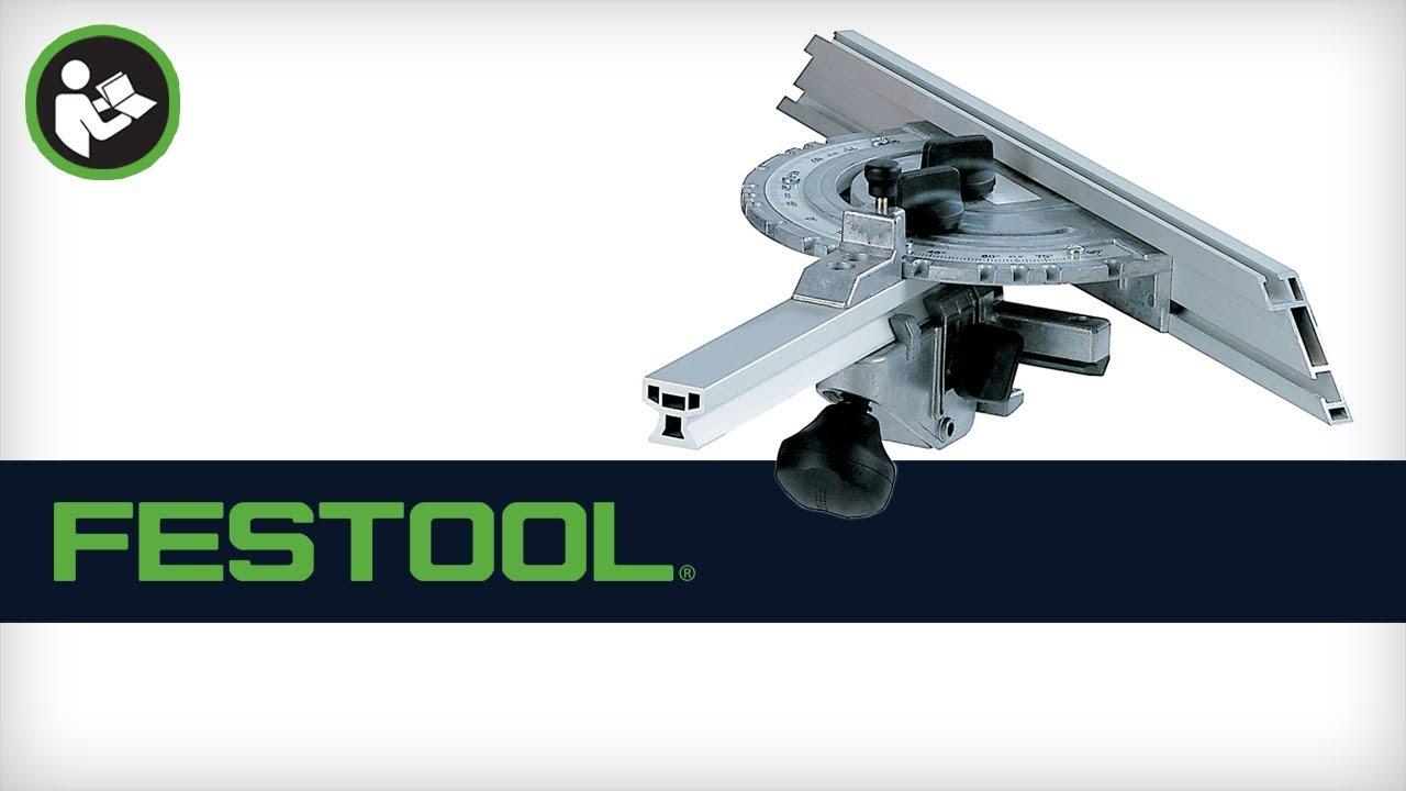 festool cms router table miter gauge 488451 youtube. Black Bedroom Furniture Sets. Home Design Ideas