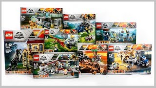 ALL LEGO Jurassic World Fallen Kingdom Compilation Speed Build Construction Toys